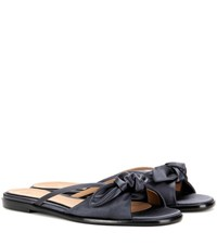 The Row April Satin Sandals Blue