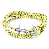 Anchor And Crew Admiral Rope And Silver Bracelet Yellow Noir