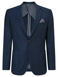 John Lewis Textured Wool Tailored Blazer Indigo