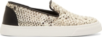 Giuseppe Zanotti Ssense Exclusive Silver And Black Snakeskin Berdyk Slip On Sneakers