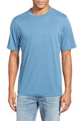 Men's Ibex 'All Day Weightless Wool Blend' T Shirt Blueprint