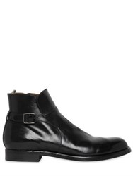 Officine Creative Brushed Leather Ankle Boots With Buckle