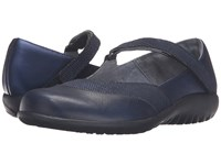 Naot Footwear Luga Navy Reptile Leather Polar Sea Leather Women's Shoes Blue