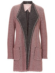 Betty Barclay Textured Waterfall Cardigan Iced Rose