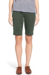 Women's Jag Jeans 'Ainsley' Slim Bermuda Shorts Jungle Palm