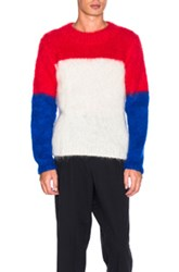 Ganryu Mohair Sweater In Red White Blue Red White Blue