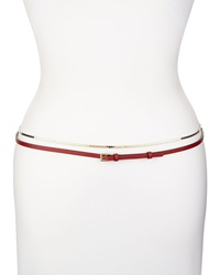 Valentino S Link Wrap Belt W Leather Red