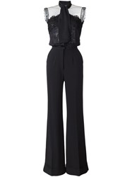 Elie Saab Lace Top Jumpsuit Black