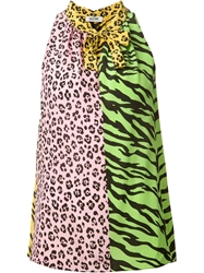 Moschino Cheap And Chic Animal Print Top Multicolour