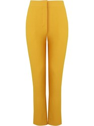 Andrea Marques Mid Rise Tailored Trousers Yellow And Orange