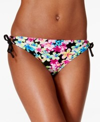 California Waves Summer Of Love Printed Side Tie Hipster Bikini Bottom Women's Swimsuit
