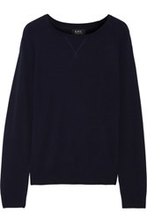 A.P.C. Atelier De Production Et De Creation Steffie Knitted Sweater Navy