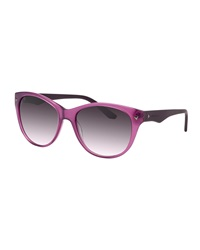 Thierry Mugler Studded Two Tone Plastic Sunglasses Purple