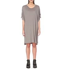 Allsaints Catkin Jersey Tee Dress Shadow Grey