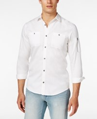 Inc International Concepts Men's Claudius Long Sleeve Shirt Only At Macy's White Pure