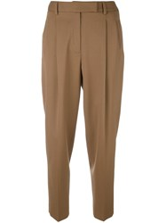Alberto Biani Tailored Cropped Trousers Brown
