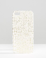 Missguided Snake Effect Iphone 5 Case Cream