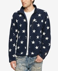 Denim And Supply Ralph Lauren Men's Printed Fleece Jacket Navy
