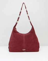 Faith Hobo Shoulder Bag In Berry Berry Red