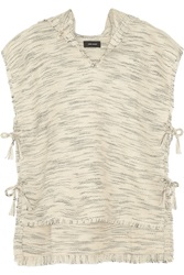 Isabel Marant Lary Knitted Wool Blend Cape White