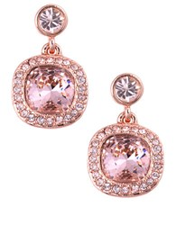Givenchy Rose Gold And Vintage Rose Swarovski Crystal Drop Earrings