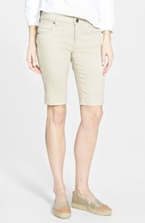 Women's Kut From The Kloth 'Natalie' Twill Bermuda Shorts Khaki
