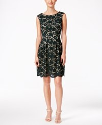 Vince Camuto Lace A Line Dress Dark Green