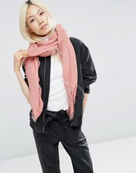 Asos Oversized Lightweight Scarf Coral Pink