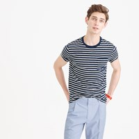 J.Crew Textured Cotton Pocket T Shirt In Blue Stripe