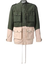 Faith Connexion Contrast Military Jacket Green