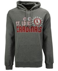 47 Brand '47 Men's St. Louis Cardinals Crosstown Striker Bic Hoodie Gray