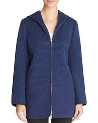 Finity Quilted Hooded Jacket Quilting Pattern Sparkles Navy