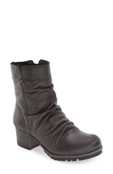Bos. And Co. Women's 'Madrid' Waterproof Slouchy Bootie Pewter Miami Leather