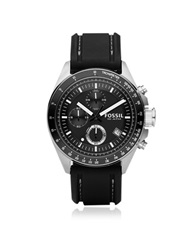 Fossil Decker Stainless Steel Men's Chronograph Watch Black
