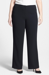 Louben Straight Leg Pants Plus Size Black