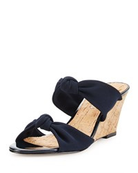 Donald J Pliner Pela Knotted Wedge Sandal Navy