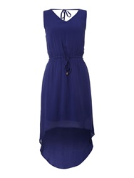 Vero Moda Dipped Hem Dress Navy