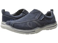 Skechers Relaxed Fit Elected Payson Navy Canvas Men's Shoes Blue