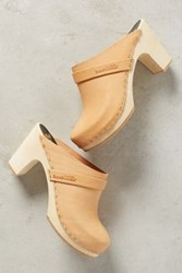 Anthropologie Swedish Hasbeens Slip In Classic Clogs Neutral