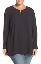 Sejour Plus Size Women's Keyhole Neck Tunic