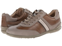 Ecco Chander Retro Sneaker Stone Navajo Brown Mocha Gravel Men's Lace Up Casual Shoes Gray