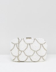 New Look Pearl Sparkle Clutch Bag White