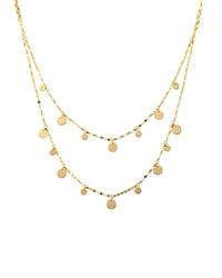Boho Gypsy 14K Gold Disc Necklace 16' Lana Red