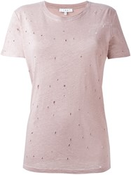 Iro Distressed T Shirt Pink And Purple