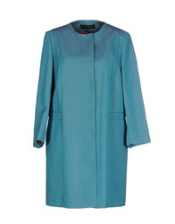 Tru Trussardi Coats And Jackets Full Length Jackets Women Turquoise