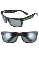 Men's Kaenon 'Burnet' 57Mm Polarized Sunglasses Green Logo Grey G12