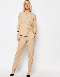 Selected Nevia Relaxed Trousers Nomad Beige