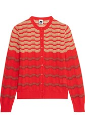 M Missoni Crochet Knit Cardigan Red