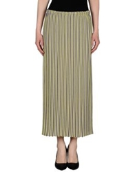 Fabrizio Del Carlo 3 4 Length Skirts Yellow
