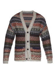 Bottega Veneta Reverse Knit Wool Cardigan